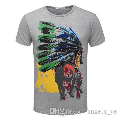 2018 Fashion T shirts For Men Indian Totems T-shirt Shorts Sleeve Brand NEW Summer male Tops Tees Casual tshirt TX80 RF
