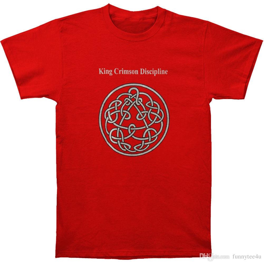 hot sale online shop special discount of King Crimson Men S Discipline T-Shirt Red T Shirt Short Sleeve Custom Made  Tees Shirts Adult Big Size