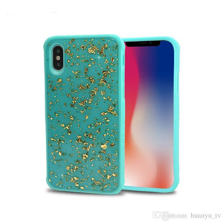 Für Iphone X / Iphone 6/6 plus / 7 / 8plus TPU PC Goldfolie Neuer Stil Telefonkasten für Samsung Galaxy Note 8