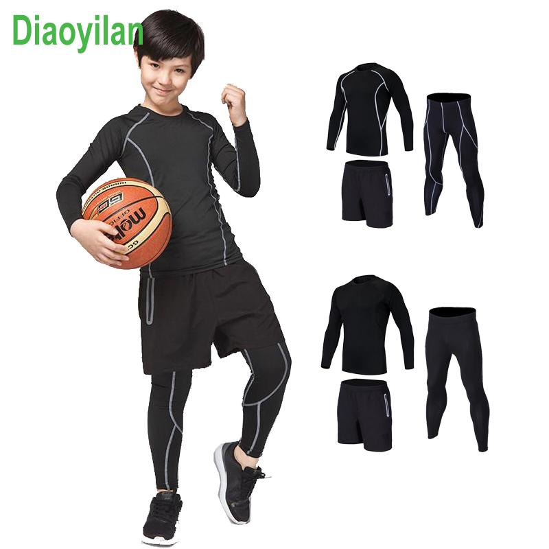 8830d62b4 2019 Survetement Homme KIDS Sport Suits Quick Dry Basketball Soccer  Training Tracksuits Child Fitness Gym Clothing Running Sets From Shinny33,  ...