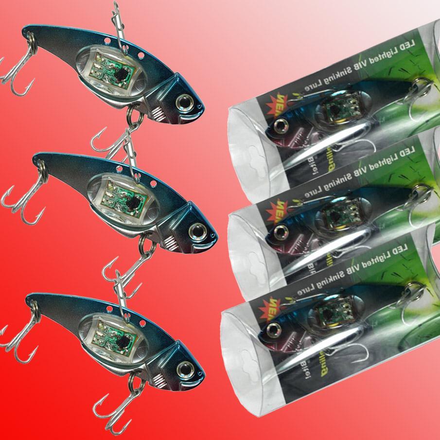 LED leurres de pêche LED Deep Drop Underwater Eye Forme de pêche Squid Fish Lure Light Lampe clignotante