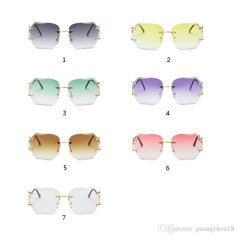 73bf3ab06f 2019 2018 Fashion Star Style Fashion Sunglasses Gradient Women S Rimless  Sunglasses Vintage Big Frame Frog Sun Glasses From Guangzhou18