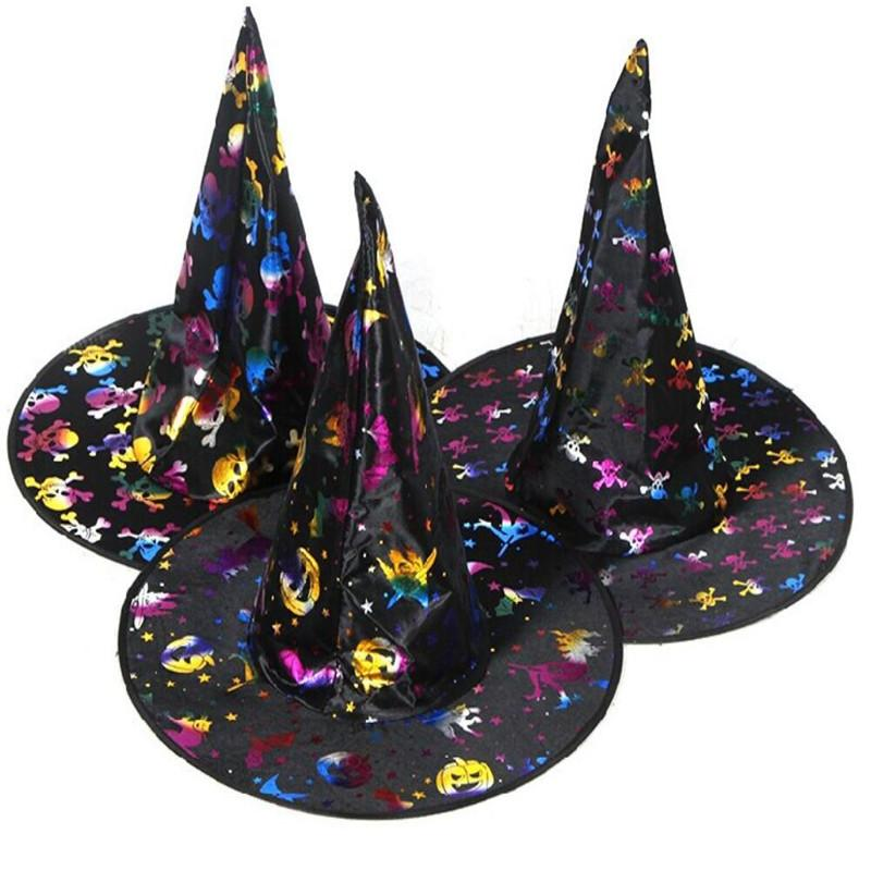 Witch Hat Pumpkin Hats Cosplay Masquerade Halloween Props Bar Supplies Decorative Party Accessories 18th Birthday 1st Boy