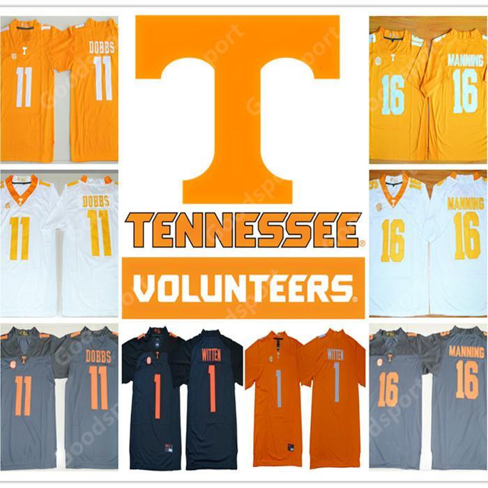 ebb3f56f239 2019 2019 NEW Tennessee Volunteers College NCAA Jersey 16 Peyton Manning 11  Joshua Dobbs 1 WITTEN Football Jerseys Cheap SPORT STAR From Goodbuystars,  ...