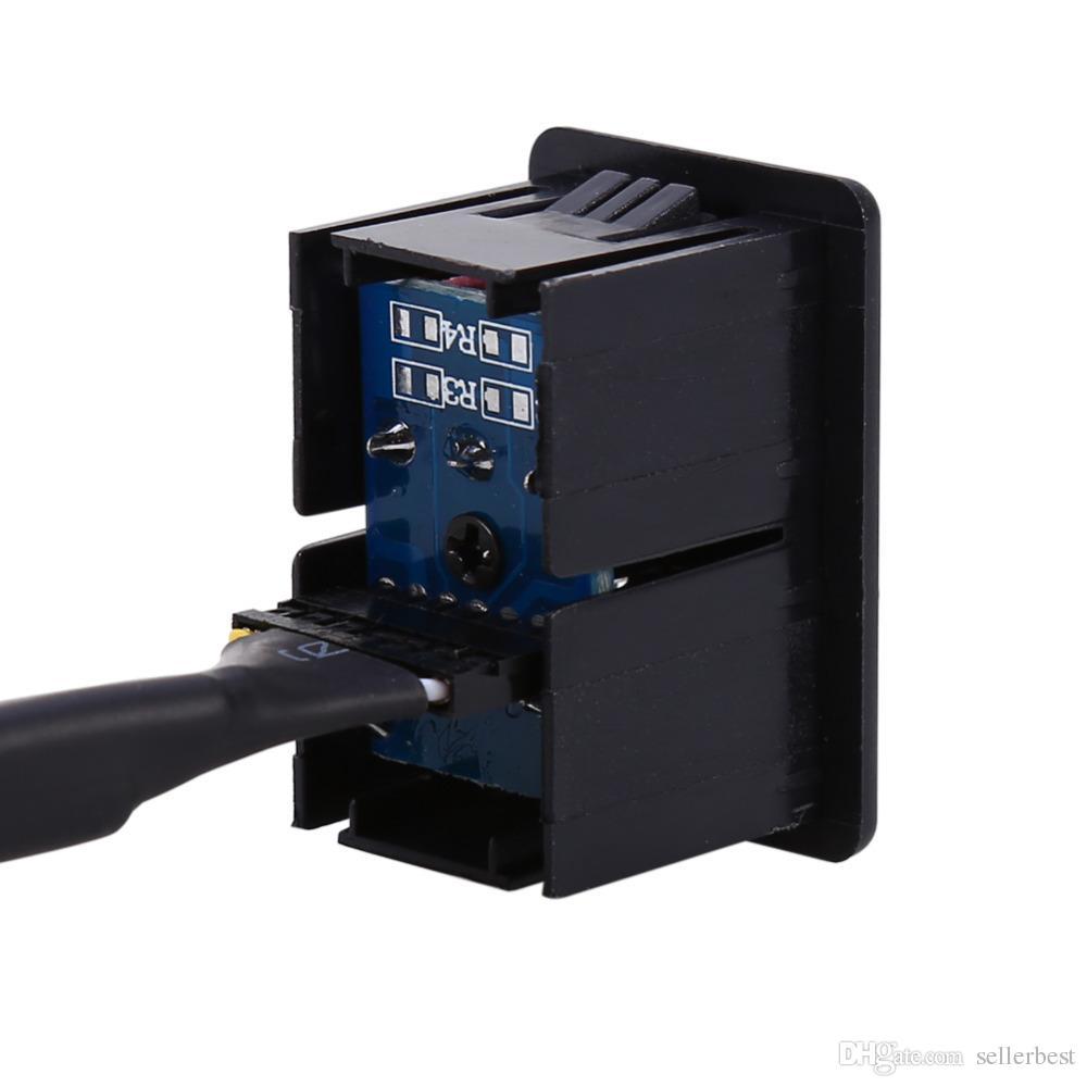 VBESTLIFE Araba AUX Ses 3.5mm 3 RCA Uzatma Kablosu USB Erkek Dash Gömme Montaj Adaptörü Ücretsiz Nakliye