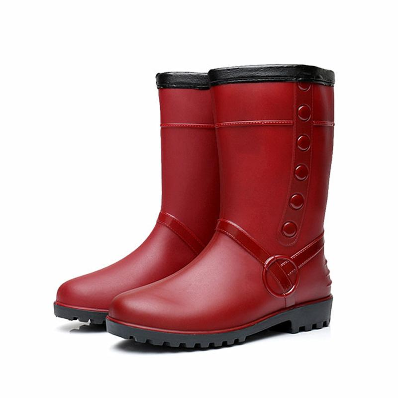 b39efa13 Compre LAKESHI Botas De Lluvia De Moda Para Mujer Antideslizantes De Felpa  Mantener Cálidas Botas De Nieve Para Mujer Zapatos De Agua Nuevos Zapatos  Largos ...