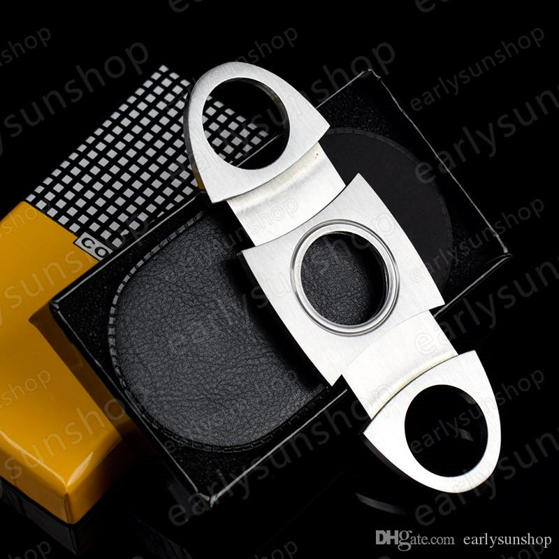 High Grade Cigarette Accessory Fashion Portable Multi Function Travel Tool Stainless Steel Easy Pocket Carry Cigar Cutter Cigar Knife Pocke
