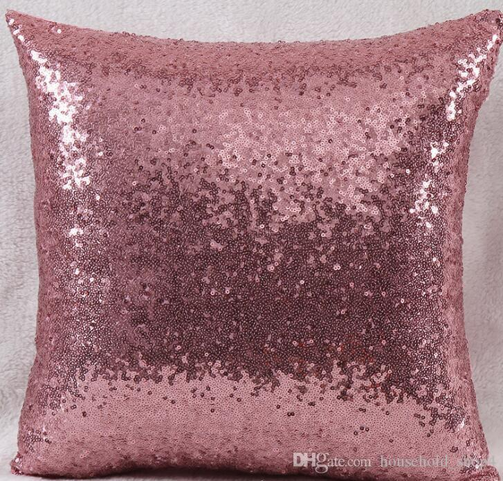 Блестками наволочка охватывает блестки наволочки наволочка не меняется цвет 40 * 40 см подушка для диван офис автомобиля украшения дома 8 цветов