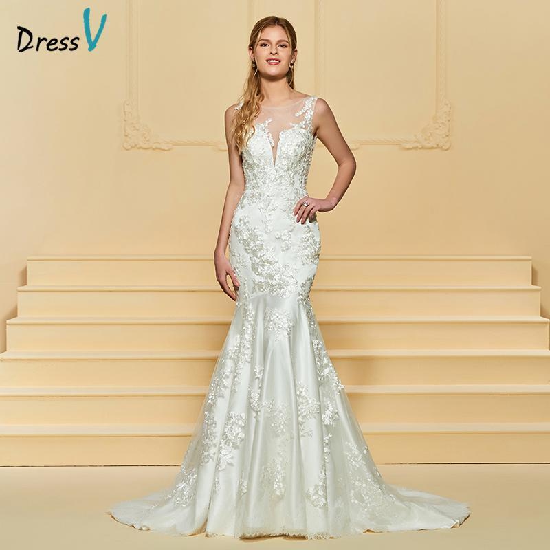 compre venta al por mayor de largo vestido de novia de marfil sin