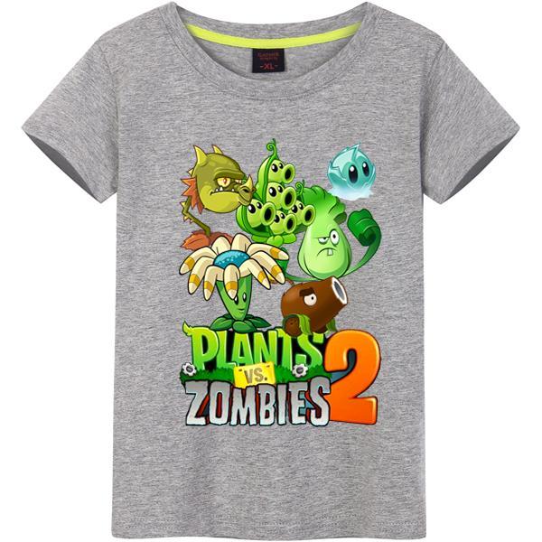 Plantes Vs Zombies Coton Garçons T-shirts 2018 Nouveau Style D'été Enfants Vêtements Enfants Vêtements Tops Nouvelle Mode Vélo Modèle Garçons T-shirts