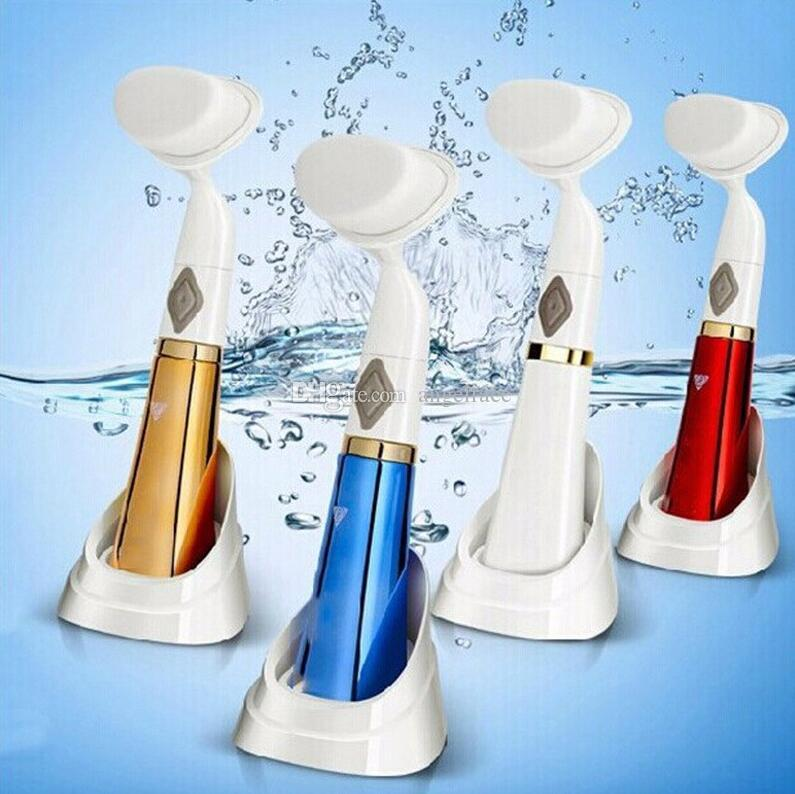Ultrasonic Electric Wash Face Machine Facial Pore Cleaner Body Cleaning Massage Mini Skin Beauty Massager Brush gift