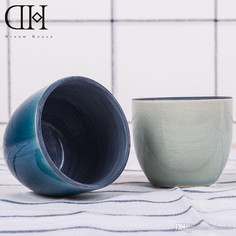 Acheter Mini Pot De Fleur En Ceramique Bleu Vase Decuction