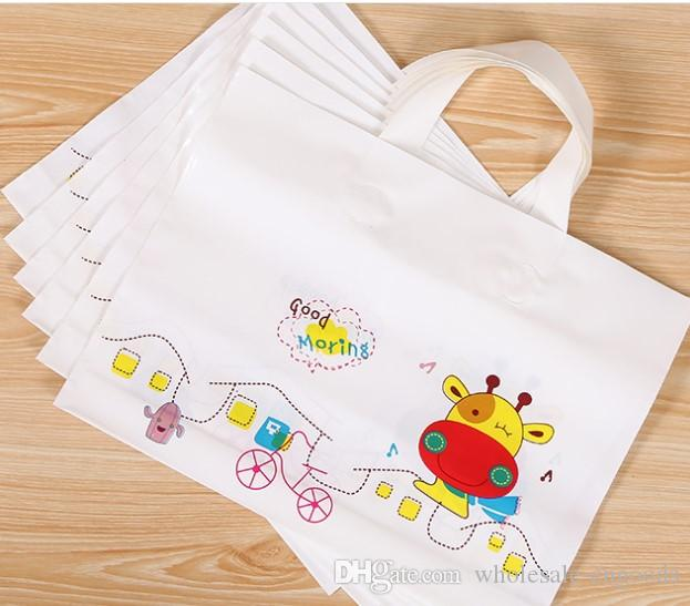 Clothing Bag Wholesale Cartoon Portable Shopping Gift Bag Plastic Bag  45cm 40cm+ Bottom 10cm Gifts Bag Packing Bags Clothing Bag Online with   49.15 Piece on ... d5a8447936