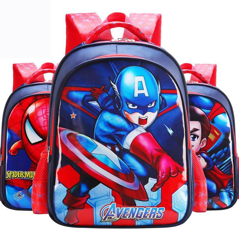 0006c5cbbaf2 2019 Children S School Bag Primary School Male And Female 1 3 6 Grade US  Captain Cartoon Backpack Burden Reduction Ridge Children S Toy Backpack  From ...