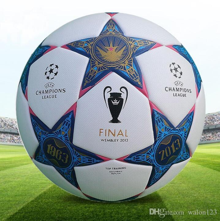 Balón de fútbol oficial de alta calidad de la Liga Campeona para juego profesional tamaño 5 entrenamiento de fútbol pu balón de fútbol estándar envío libre