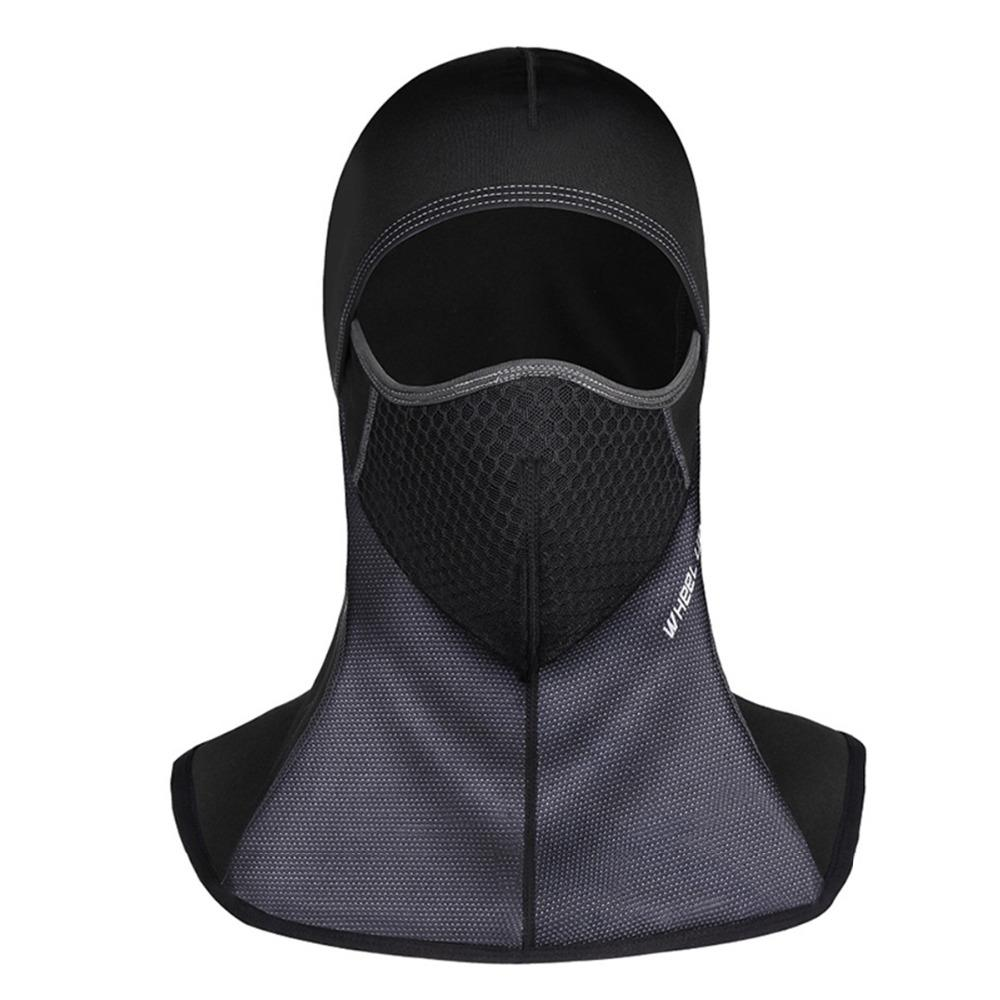 07acc6d93bc Bicycle Thermal Fleece Hat Headset Winter Warm Full Face Mask Neck ...
