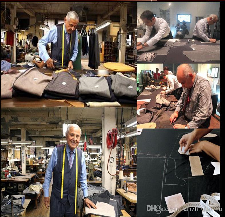 Latest Coat Pants Designs Charcoal Men Suits Slim Fit Formal Groom Prom Tuxedo Blazer Business Clothes Jacket+Pants+Vest