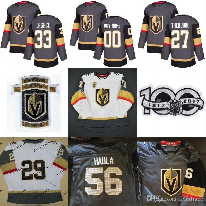 2017-18 Inaugural Season 100th Patch Vegas Golden Knights 29 Marc ... 88c185a50