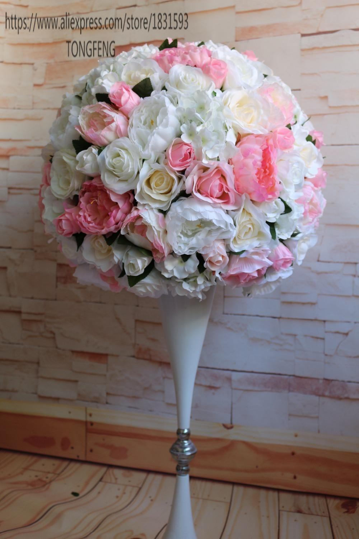 2019 Wedding Road Lead Artificial Silk Flowers Table Centerpiece