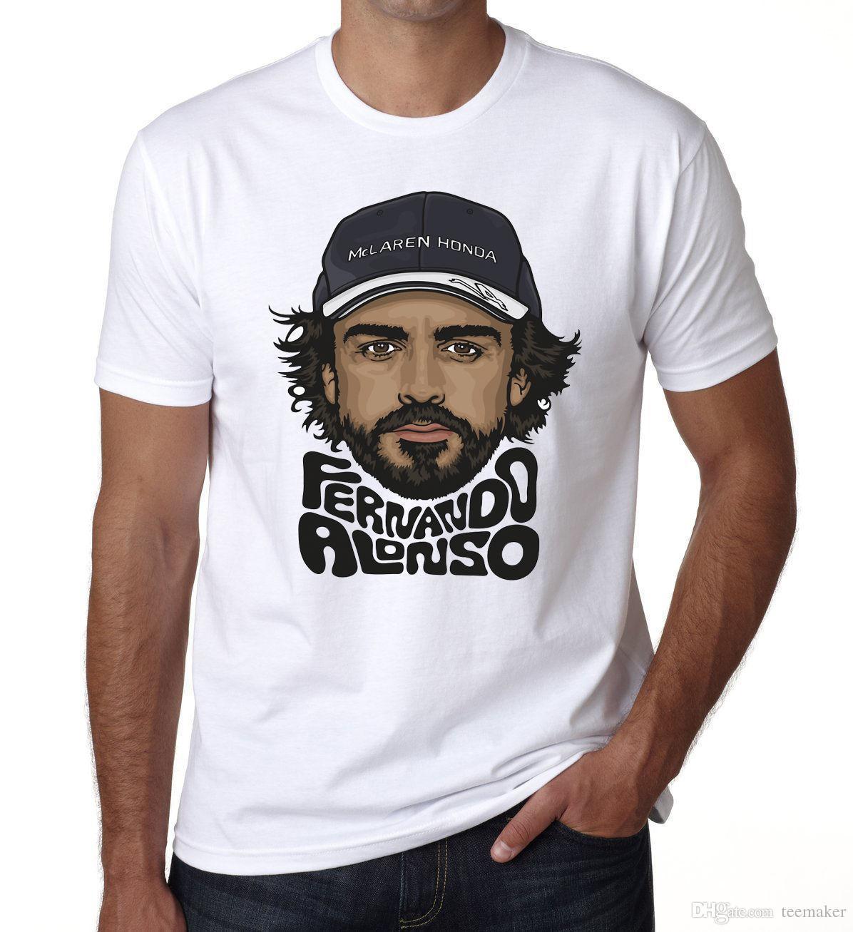 Fernando Alonso Mens T Shirt Kids World Cheap Hot Sale Formula One Racing  Driver Dt Cotton Men T Shirts Classical The T Shirt T Shirts Designer From  ... 6aca5b30df