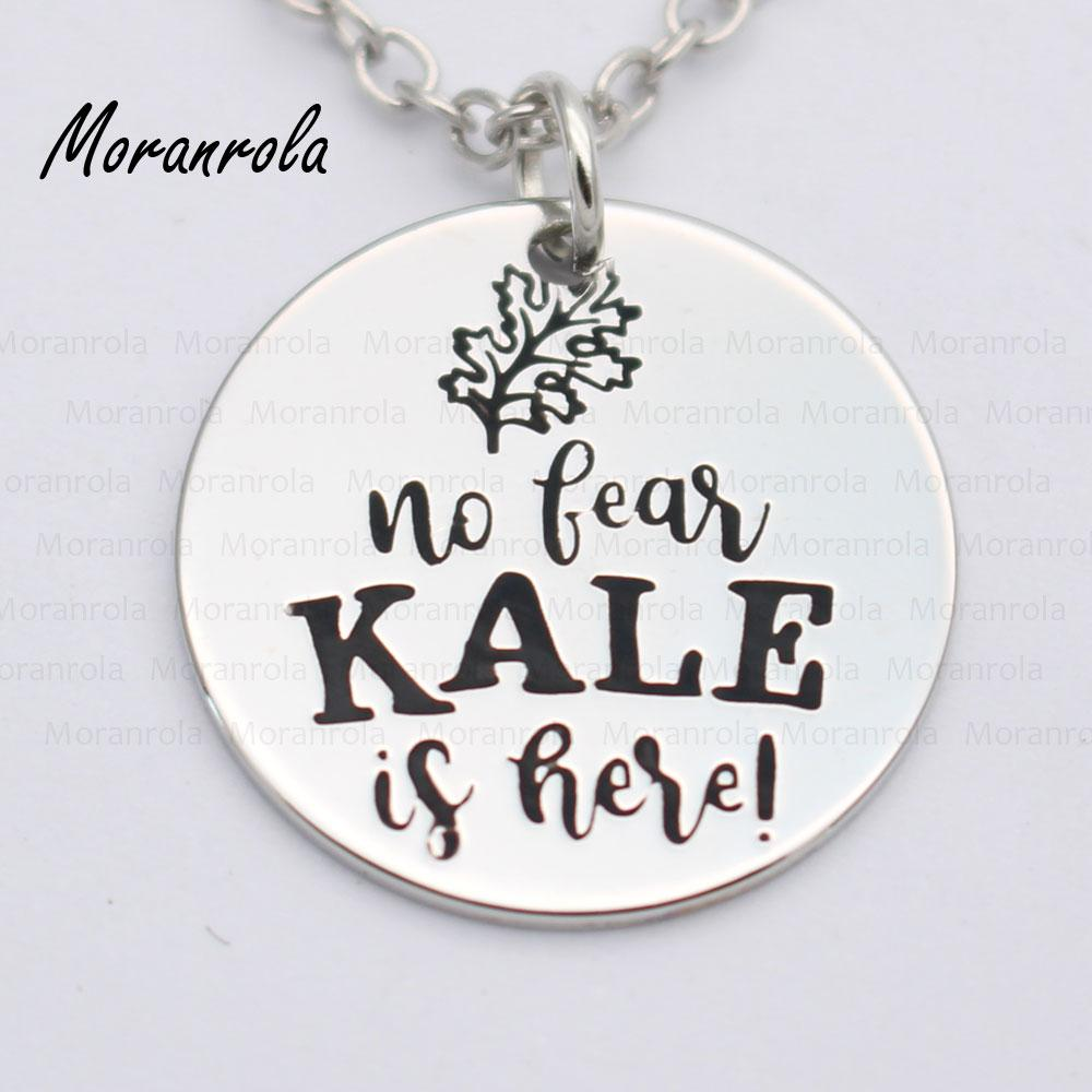 Wholesale New Arried No Fear Kale Is Here Copper Necklace Keychain