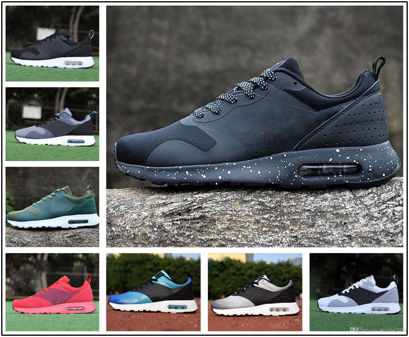 796269b67820 Acheter Nike Air Max 87 90 Airmax 87 90 2017 2018 87 Hommes Camouflage  RUNNING Chaussures 100% Original Tout Noir Chaussures De Sport Thea 2017  Chaussures ...