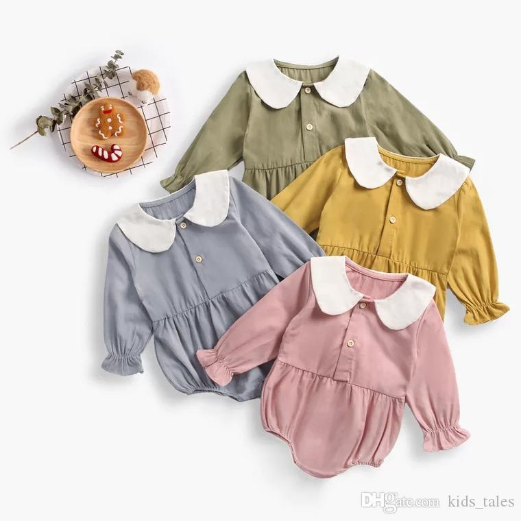 f646c3930 2019 2018 Infant Baby Girl Autumn Climb Rompers Newborn Toddlers Doll Collar  Long Sleeve Bodysuit For 0 3years From Kids_tales, $39.2 | DHgate.Com