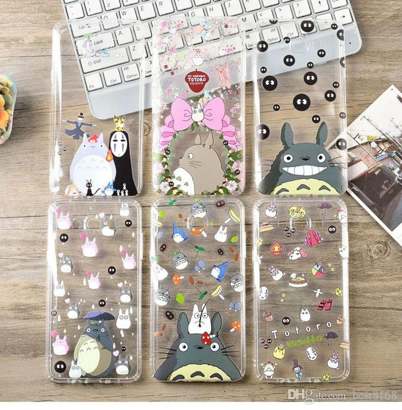 newest 91429 72346 Totoro Case For Iphone X 8 7 Plus 6 6S SE 5 5S Galaxy S9 Plus Soft TPU Gel  3D Cartoon Shockproof Cute Cartoon Clear Lovely Cell Phone Cover