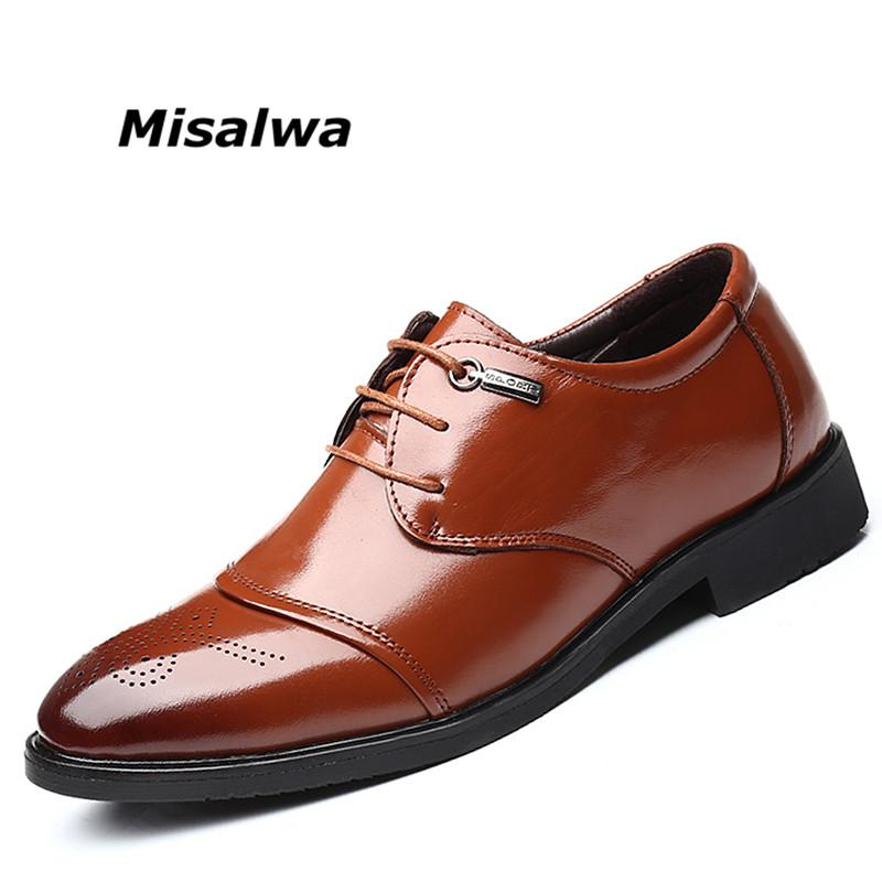 18a4c8bb2d8 Misalwa Autumn Men S Shoes Original Leather Brogue Carved Retro Oxfords For  Men Social Shoe Lace Up Casual Platform Work Shoes Online Clothes Shopping  ...
