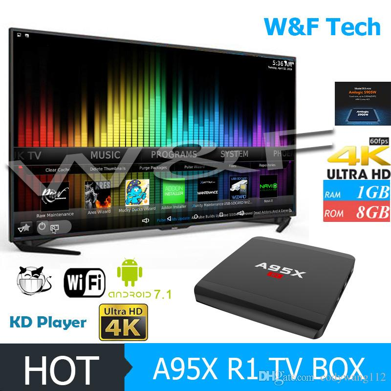 New Arrival T95K A95X R1 Amlogic S905W Android 7.1 TV Box 2.4G WIFI Arabic IPTV Media Player
