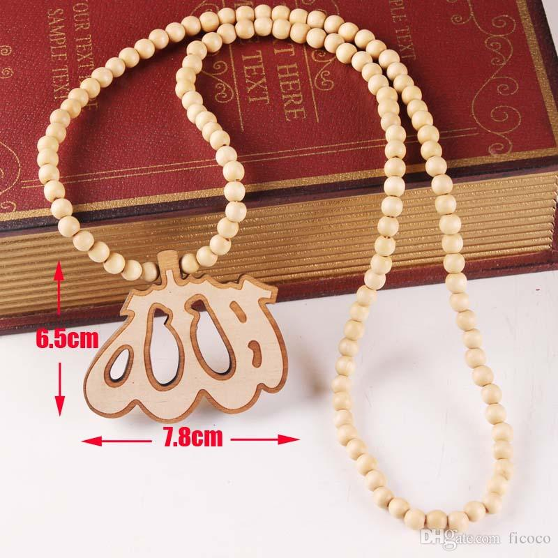 Wholesales Wood Pendant Hip Hop Jewelry Designer Jewelry Sliver Choker Beads Mens Necklace Mens Chain Healing Necklace
