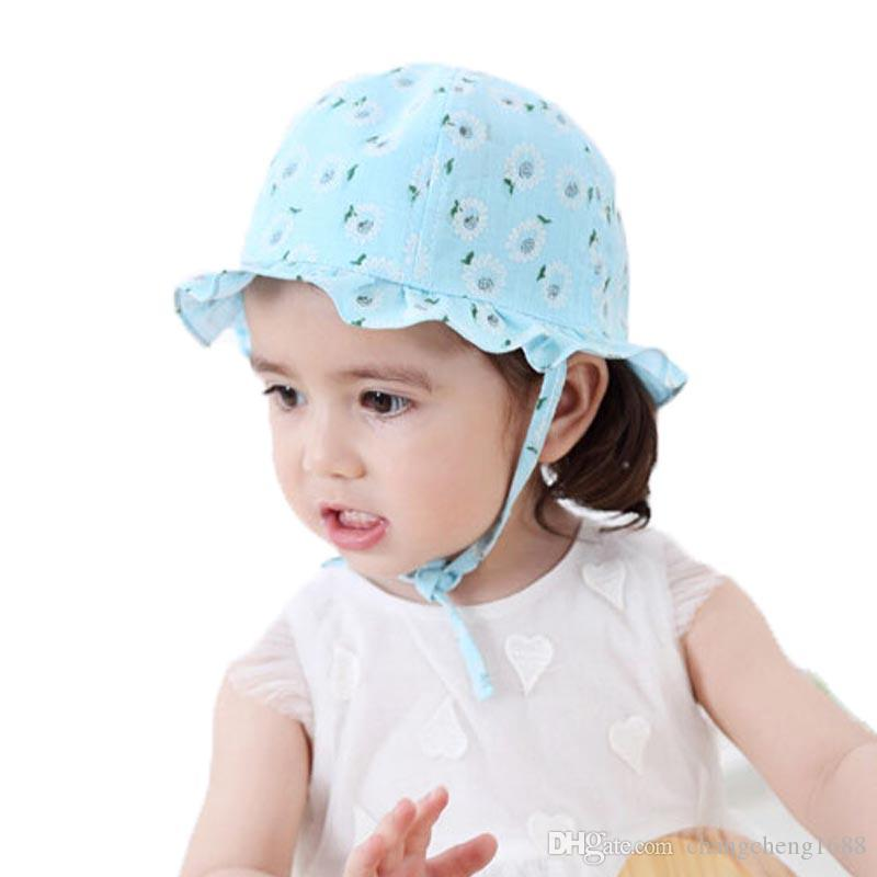 7b7720c6755 2018 Girls Baby Dome Bucket Hats Child Printed Design Falbala Fisherman Cap  Spring Summer Sun Protective Hat MZ5695 Online with  4.46 Piece on ...