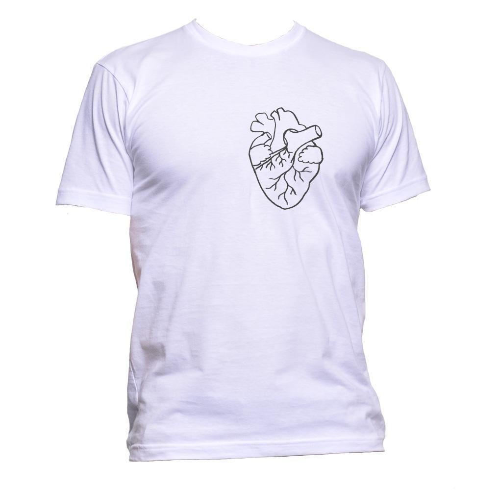 c5561f40bc Anatomical White Heart Pocket Unisex T Shirt Mens Womens Fashion Comedy  Cool Fun All T Shirt Order Tee Shirts From Yuxin09