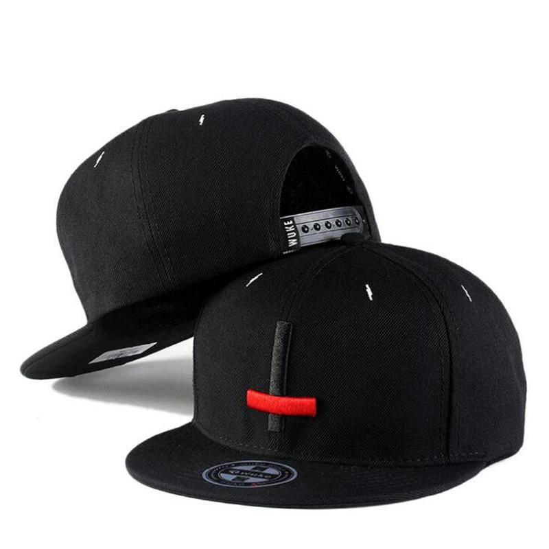 7067885874e Black Red Embroidery Cross Snapbacks Adjustable Hip Hop Mens ...
