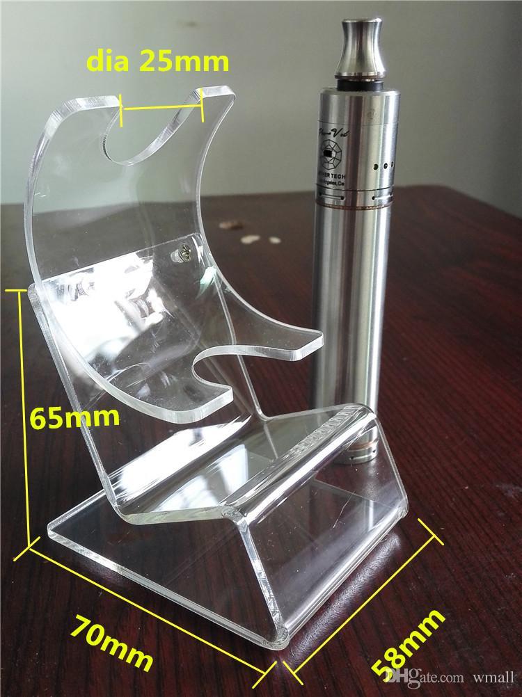 Date Acrylique e cig présentoir clair stands titulaire support pour ecig vapr batterie mech Box Mod Cas e cigarette accessoires livraison gratuite