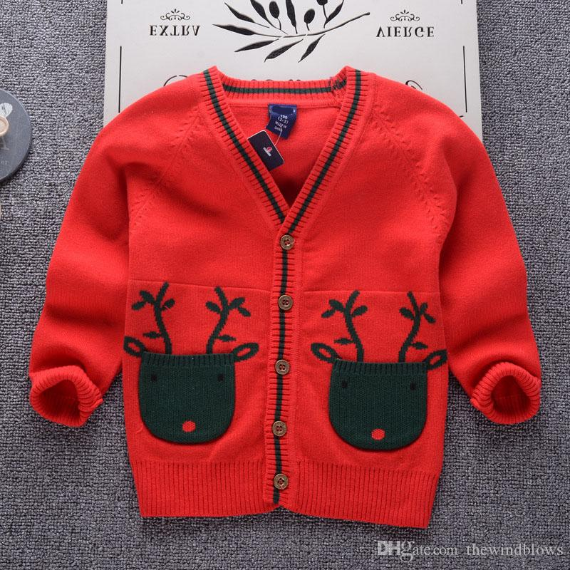 School Outfits 2018 Boys Sweaters Baby Boys Cardigans Knit Kids