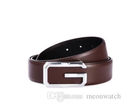 Envío gratis diseñador hombres negocios correa masculina de lujo de la vaca cinturones de cuero genuino para hombres moda hebilla correa ceinture homme
