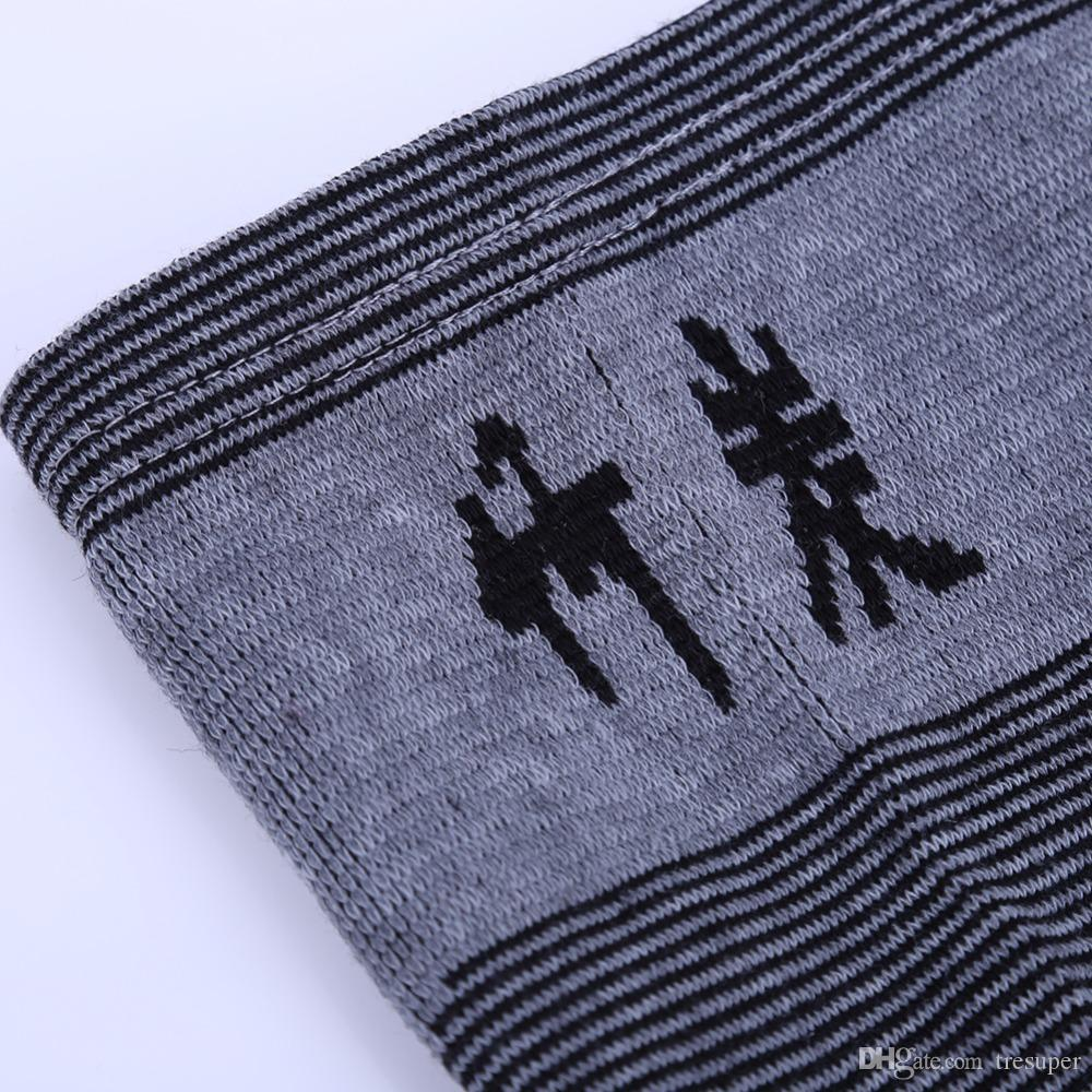 Support de genou de charbon de bois de bambou respirant élastique de haute résistance Support de sécurité du genou pour le basket-ball de volley-ball S M L taille