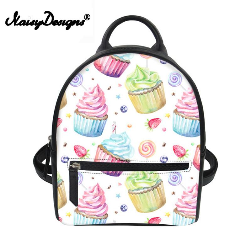 Small Travel Backpack For Girls Ice Cream Printing PU Leather Backpacks  Womens Mini String Bag Teenage School Bag Pink Backpacks Daypack From  Beigekar, ... a357f4180e