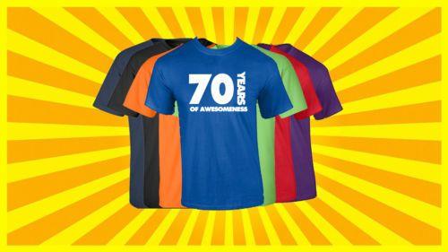 70th Birthday T Shirt Happy Funny 70 Years Old Tee Slogan Daily Shirts From Bikeshirts 1828