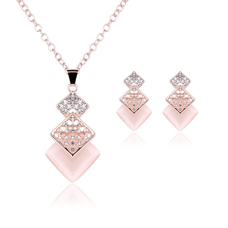 Fashion Jewelry Jewelry & Watches Intelligent Bijoux Pink Costume Jewellery Necklace And Earrings