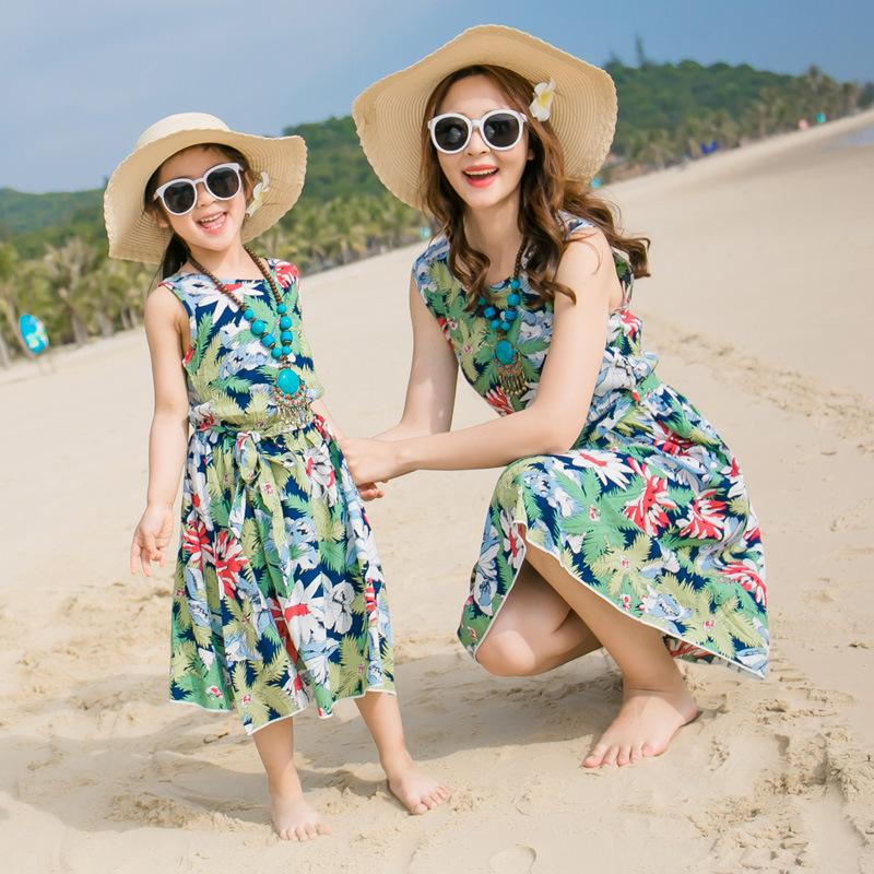 94eb007283 New Beach Family Matching Outfit Cotton Mother/Mom And Daughter Dress  Clothes Father Son Clothing Sets Family Style Set 3XL Mother Son Matching  Clothes ...