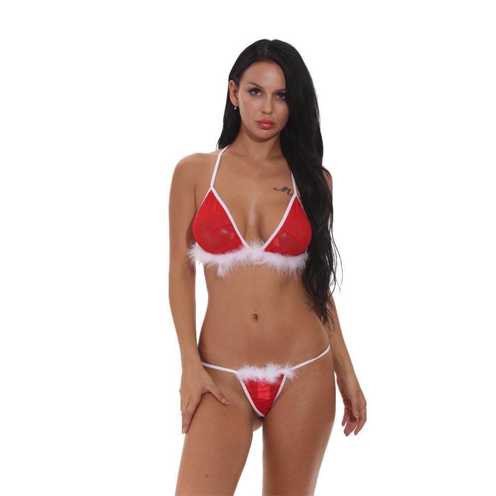 67b9b6e02 Compre Nova Chegada De Natal Sutiã E Calcinha Set Sexy Mini Biquíni Lingerie  Conjunto Para As Mulheres G String Thong Inferior Micro Calcinhas De  Weilad