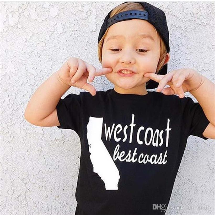 Children T shirt for Boys Clothing 2018 newest Baby Summer Tops&Tee Cotton Kids clothes Fashion Letter boy toddler playsuit Black 175