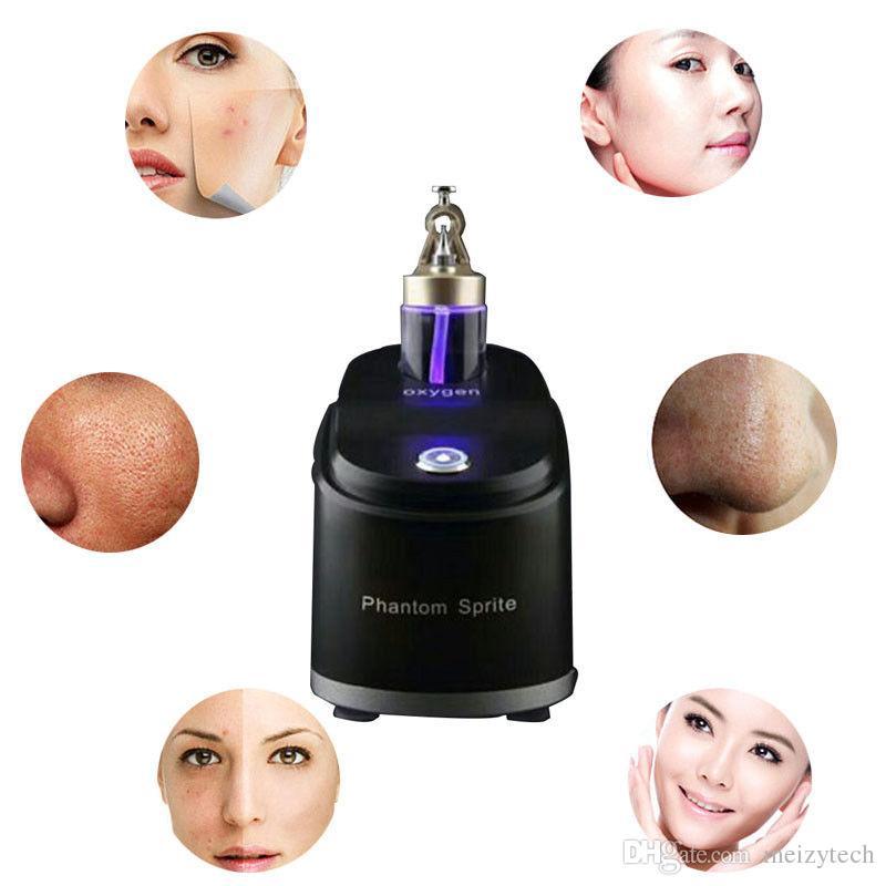 Oxigênio puro portátil jato de água jato facial massagem pele rejuvenescimento cuidado casca máquina branqueamento clareando rugas remoção de rugas