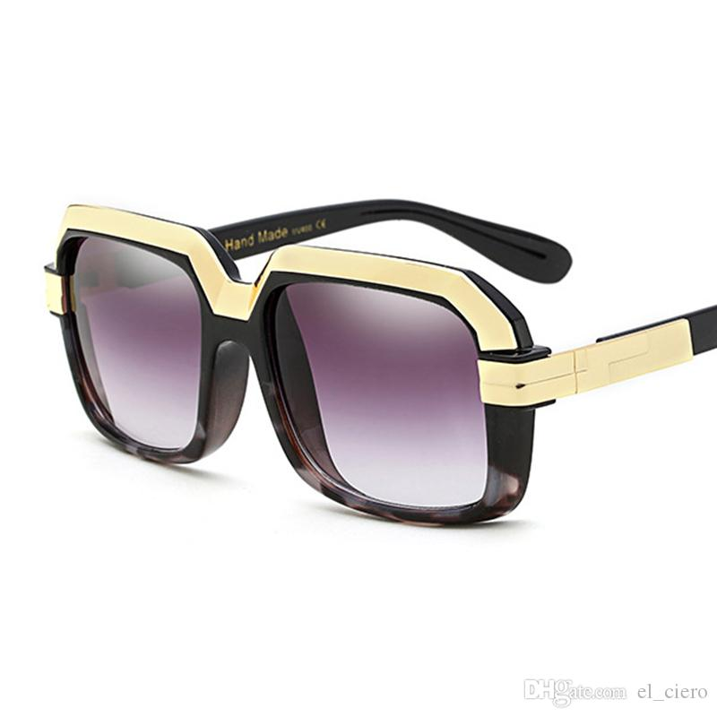84c4a71ecedd 2018 Vintage Oversized Square Sunglasses Women Men Retro Big Brand Designer  Rectangular Frame Modern Chic Sun Glasses Designer Sunglasses Sunglasses  For ...