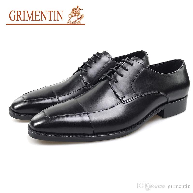 4ec082bcf9cb GRIMENTIN Brand Mens Dress Shoes Italian Designer Fashion Black Brown Men  Oxford Shoes Genuine Leather Formal Business Lace Up Mens Shoes JM Mens  Dress ...