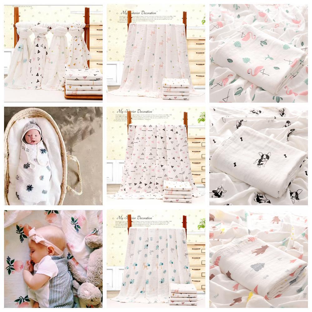 Grosshandel 110 140 Cm Bambus Baumwolle Baby Gedruckt Decke