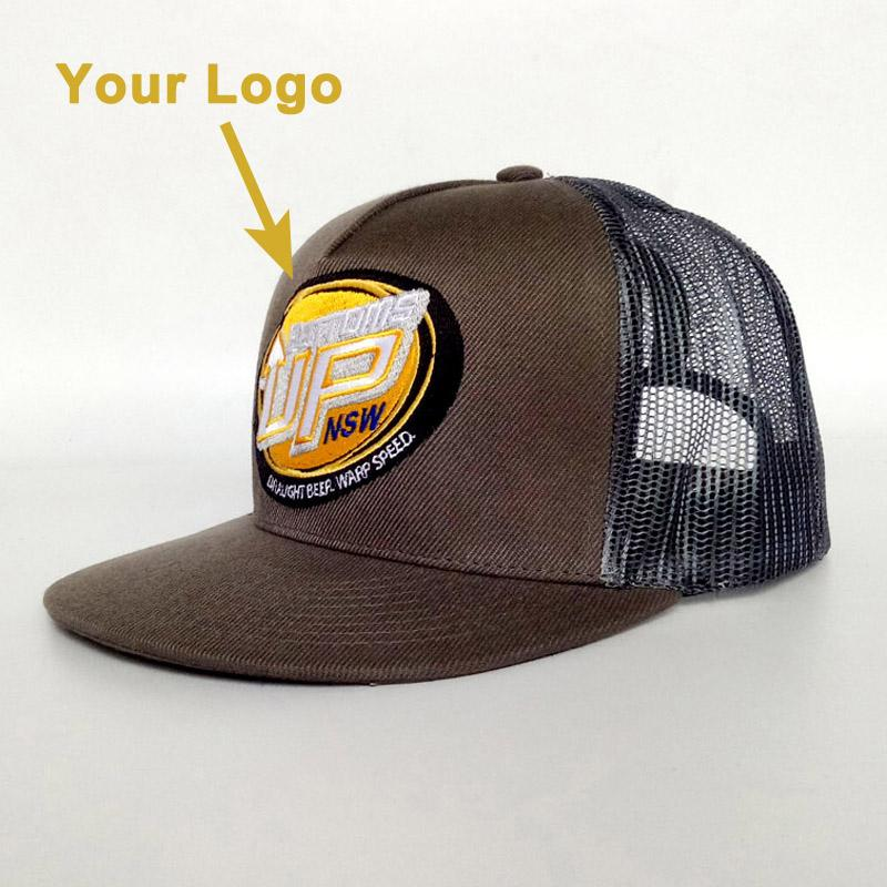 Mesh hat flat brim present gift hat prevailing headgear promotion popular  trucker hat snapback close custom baseball hats caps