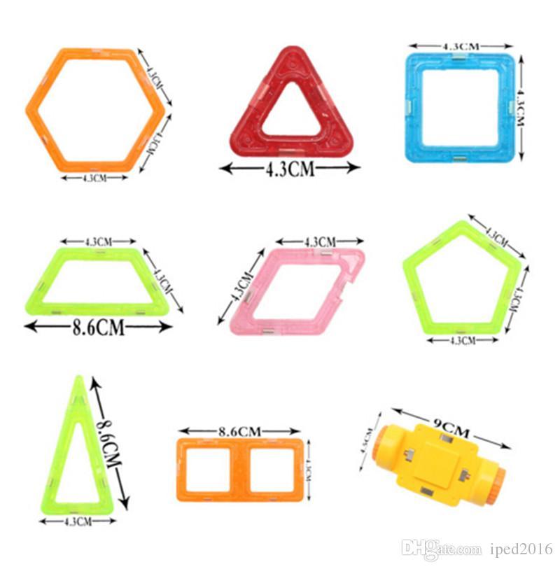 26 Adet Mini Manyetik Tasarımcı Yapı Taşları Çocuk Modelleri Bina Oyuncaklar Teknik Plastik DIY Enlighten Tuğla Çocuk Mıknatıs Oyunu